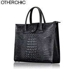 OTHERCHIC Crocodile Women Leather Handbags Fashion Women Bag Ladies Shoulder Bags Purse Handbag Brand Portfolio Briefcase 2009