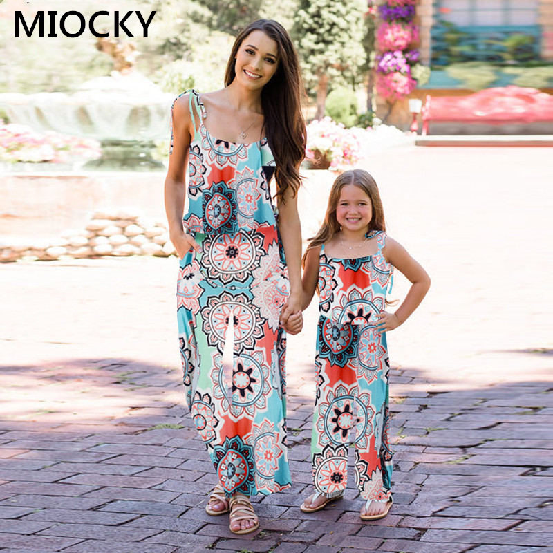 NASHAKAITE-Family-matching-clothes-Bohemian-Print-Shoulder-Bandage-Jumpsuit-Mommy-and-me-Jumpsuits-Mother-and-Daughter (9)
