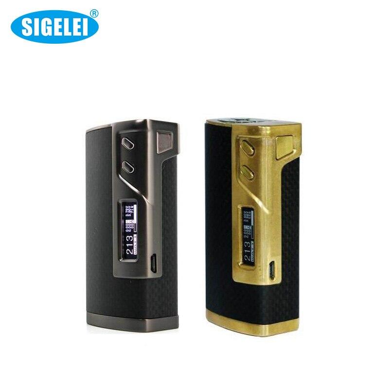 Authentic Sigelei 213 Box Mod  -The Newest  Sigelei  213 Box Mod Carbon fiber and Zinc Alloy Gun Gold 10W~213W 1Piece / Lot 100% original sigelei fuchai 213 box mod ss ti ni200 tcr tfr modes 10w 213w 0 1 3 0ohm fuchai 213w tc mod
