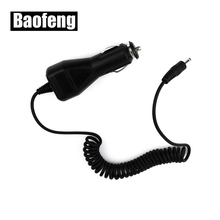 10 adet Baofeng araba şarjı kablosu 2.5mm BAOFENG UV 5R 3800mAh pil Walkie Talkie
