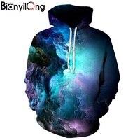 BIANYILONG Dream Clouds Hooded Women Men Printed Coat 3D Sweatshirt Outerwear Sportswear Hoodies