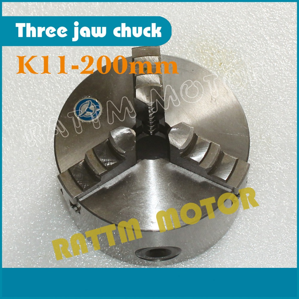 K11-200mm CNC tool Three jaw self-centering chuck 3 jaw  Machine tool Lathe chuck new cnc lathe chuck 3 jaw self centering 8 k11 200 200mm three jaws chuck for drilling milling machine with wrench and screws