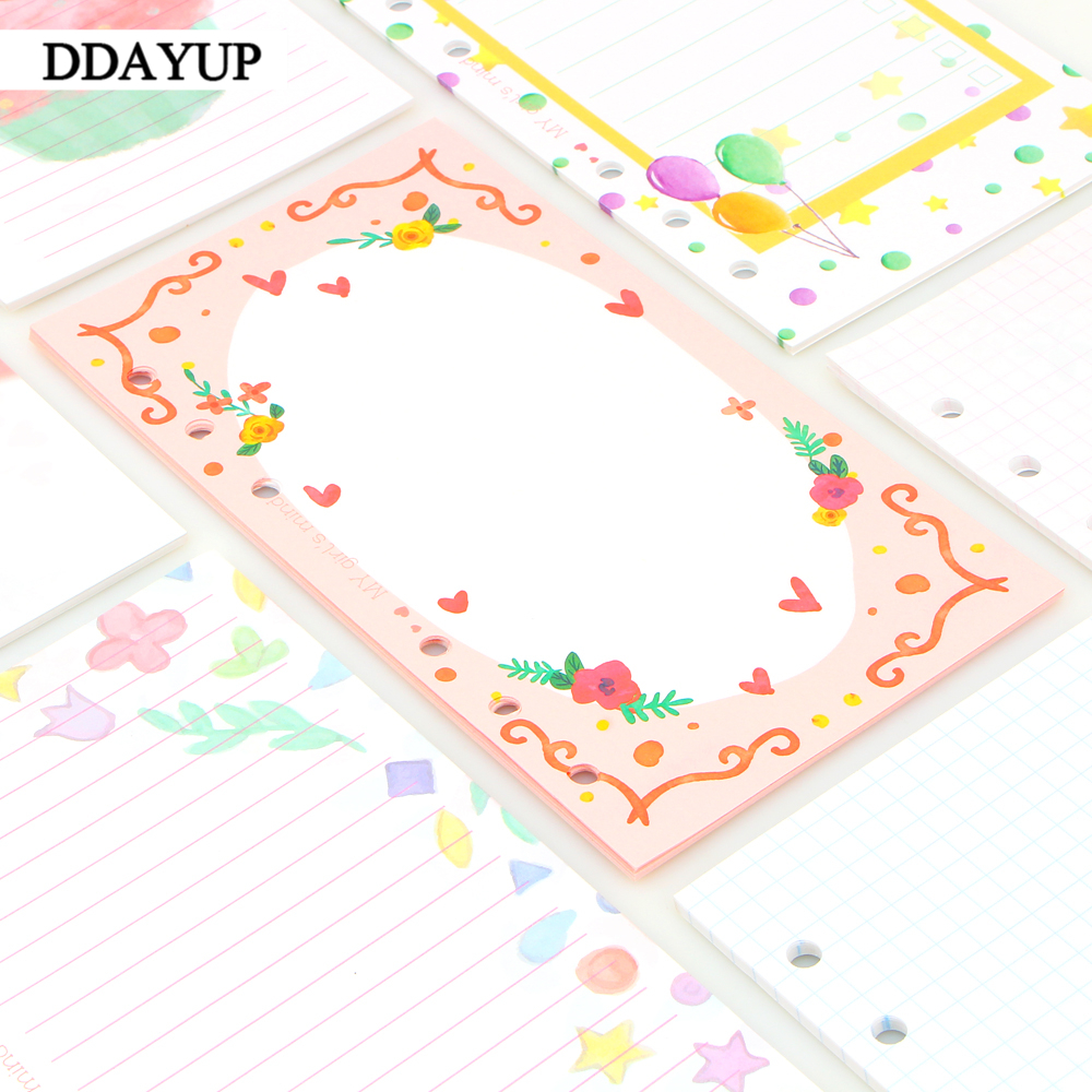 Cute Girls heart Colorful Notebook Papers A5 A6 Inside Page Planner Filler Paper Creative Student Stationery Gifts мастер чиф page 6