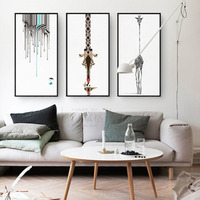 Comics Wearing A Girdle With Pair Of Glasses Lovely Childlike Artistic Beauty Art Picture Canvas Posters