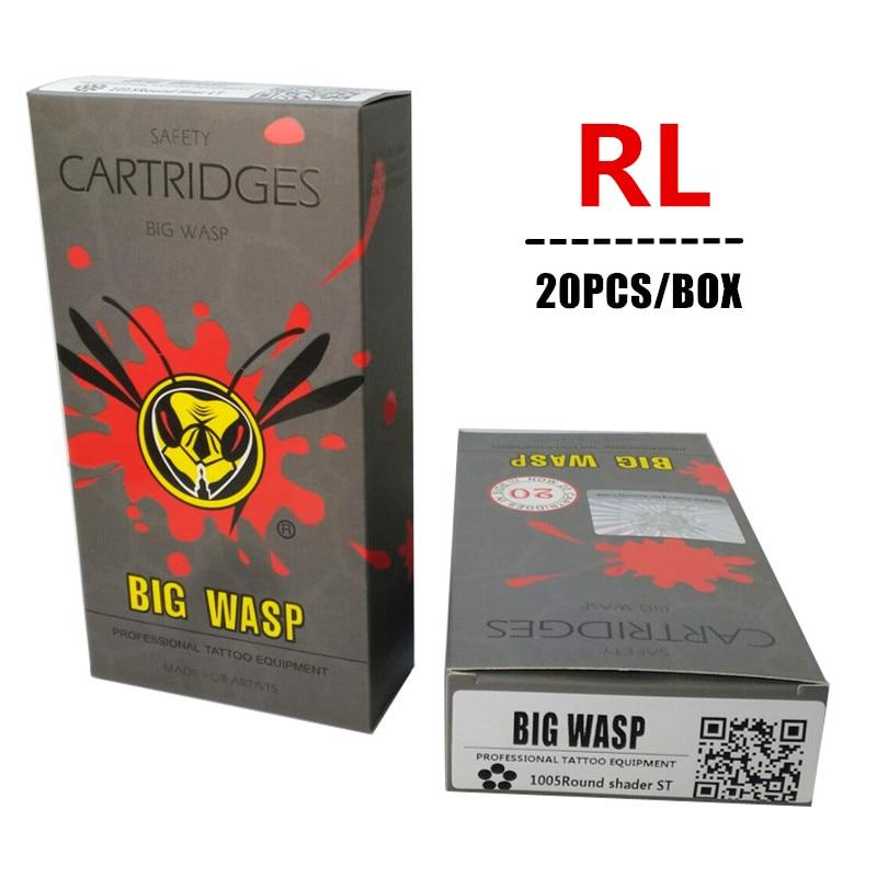 20PCS Big Wasp Disposable Cartridge RL Round Liner 3RL/5RL/7RL/9RL/11RL/13RL/14RL/15RL Cartridge Gray Disposable Tubes