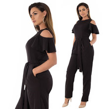 5XL 6XL Summer Plus Size Jumpsuit women 2019 Sexy Off Shoulder Big Romper Overall Large Casual Female Elegant
