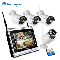 Techage 2 In 1 960P 11 7 LCD Monitor CCTV System 8CH 1 3MP Screen Outdoor