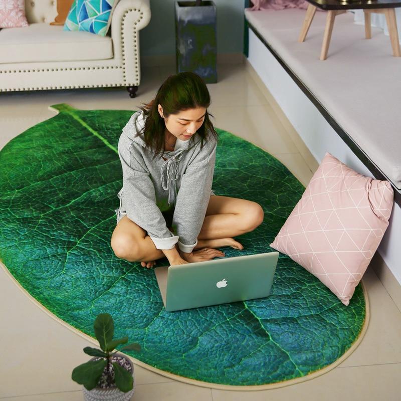 Children Creative Green Leaf Carept For Livingroom Plant Crawling RUG Bedroom Kitchen Non-slip Mat Door Mat Carpet Pet Dogs Pad