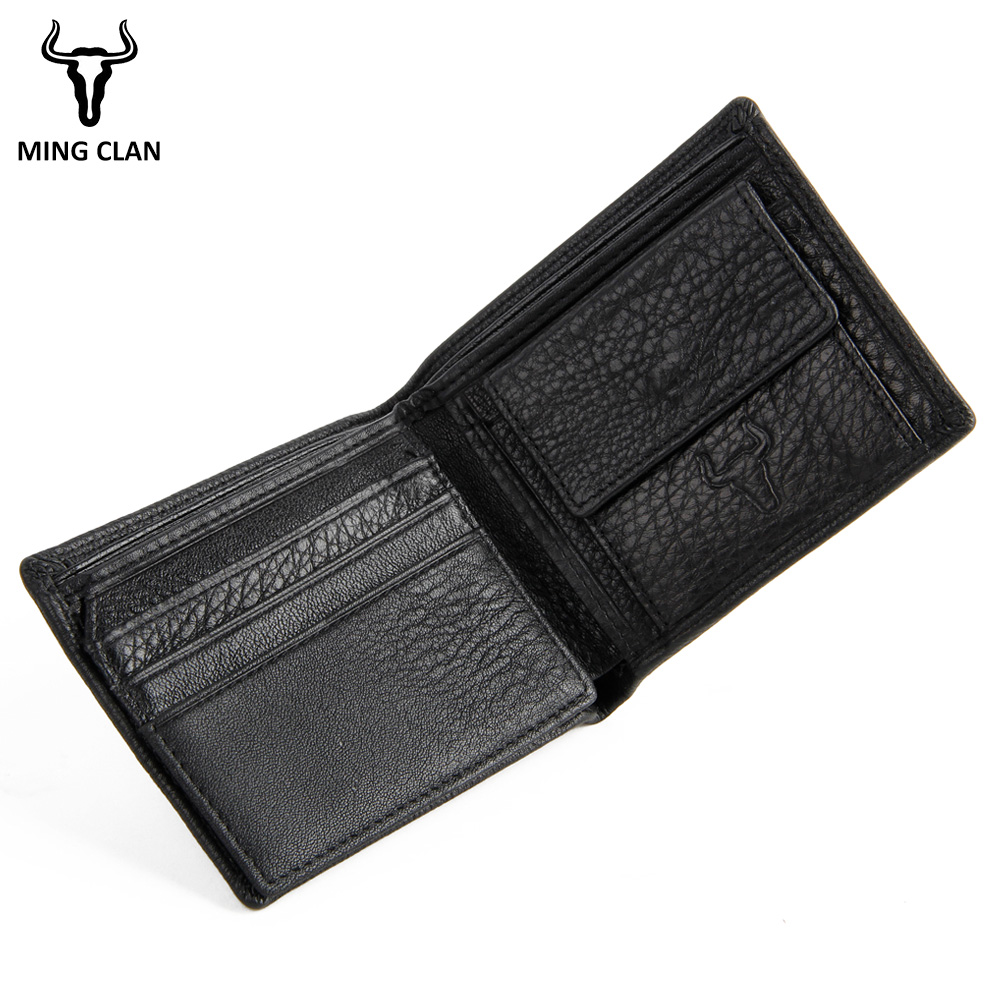 Small Slim Mini Fashion Genuine Leather Men Wallet Male Purse Thin Perse Walet Cuzdan Vallet Money Bag Document For Card Holder|Wallets| |  - title=