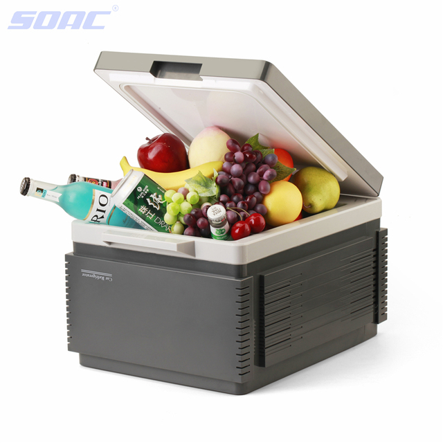 Mini Car 12L Fridge Portable 12V Auto Refrigerator Cooler Grey Freezer Multi-Function for Travel Camping with Bluetooth 3.0