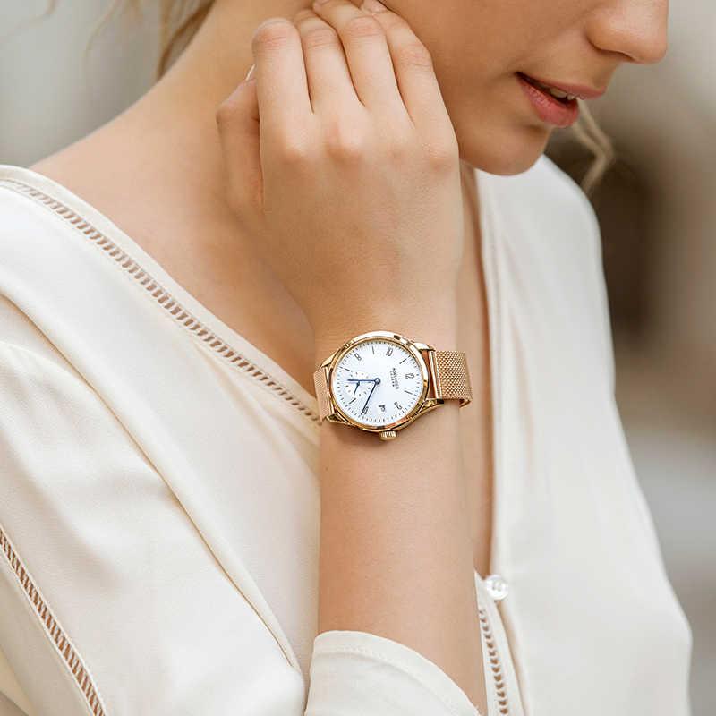 Швейцарский роскошные для женщин часы брендов Щепка белый циферблат модные дизайн дамские часы наручные часы Relogio Feminino