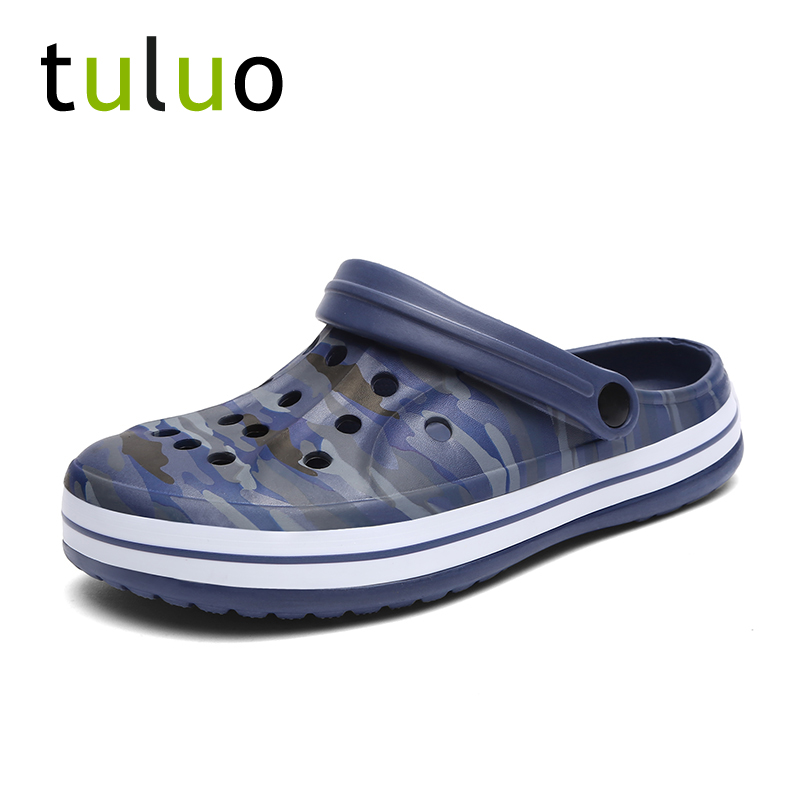 TULUO Dropshipping Men Beach Water Shoes Outdoor Sandals Summer Breathable Men Sneakers Mules Clogs Slippers Jelly Garden Shoes