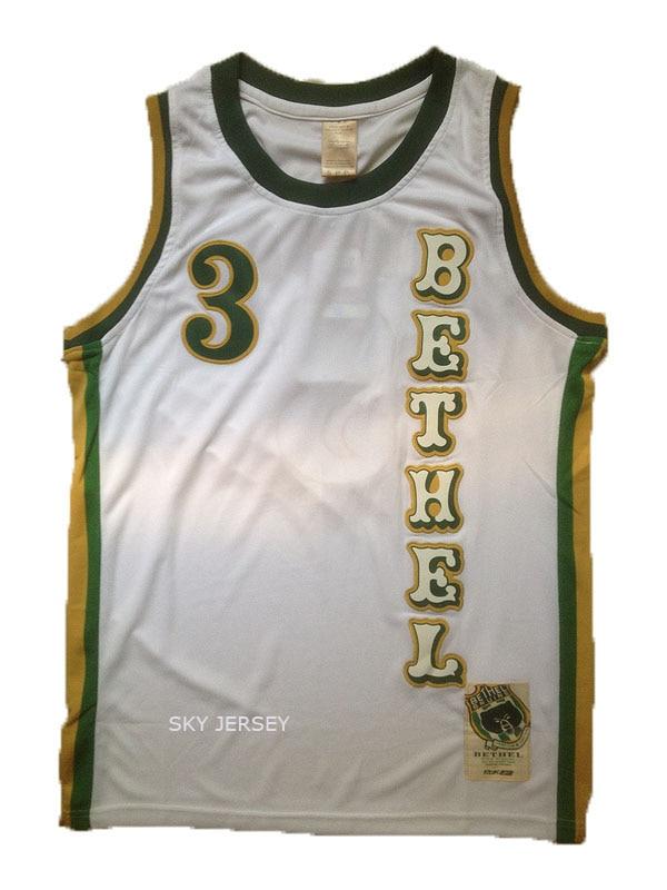 8ea82892260 ... basketball jersey  allen iverson bethel high school jersey bethel 3  allen iverson green white throwback .