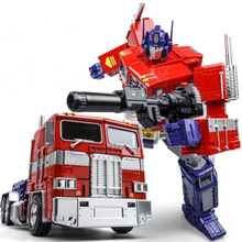 New W8019 33CM big Optimus Transformation Deformation font b Robot b font MPP10 M01 Alloy Evasion