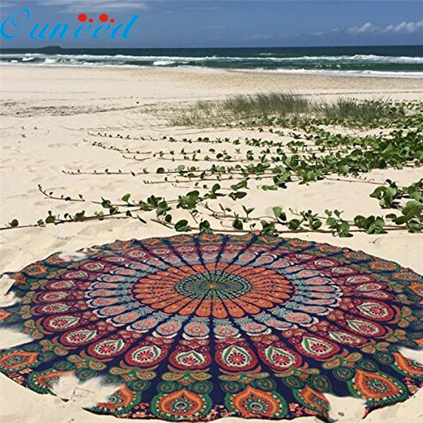 Zero Round Beach Pool Home Shower Towel Blanket Table Cloth Yoga Mat