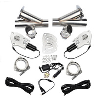 2.02.252.53.0 Exhaust Cutout Stainless Steel Y Headers Catback Pair With Manual Switch Cut Out Pipe Kit