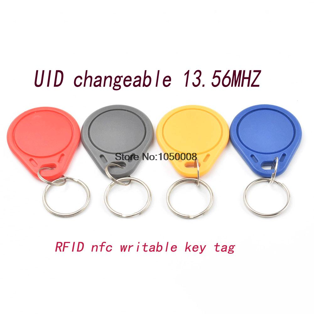 5pcs/lot UID Changeable NFC IC tag rfid keyfob token 1k S50 13.56MHz Writable ISO14443A white 10pcs pack pvc nfc smart card tag s50 for ic 13 56mhz rfid readable writable 8 5 x 5 4 x 0 1cm new