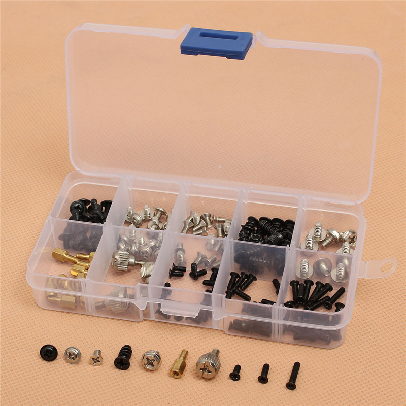 MTGATHER 165pcs/Set Computer Screws Kit For Motherboard PC Case CD-ROM Hard Disk Notebook Application For PC Maintenance etc 224pcs assembly diy computer case screws kit fan screw pc desktop computer screw set with free screwdriver