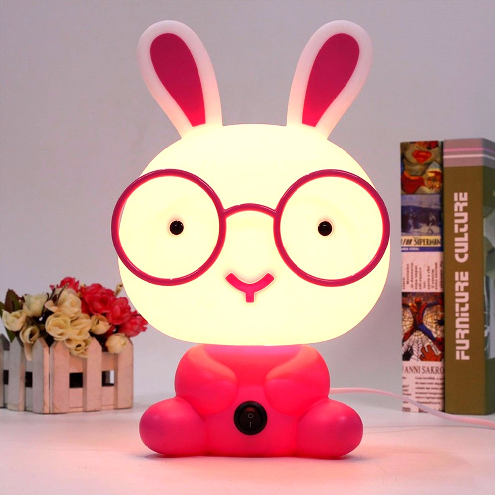 Cute Rabbit Cartoon Night Light