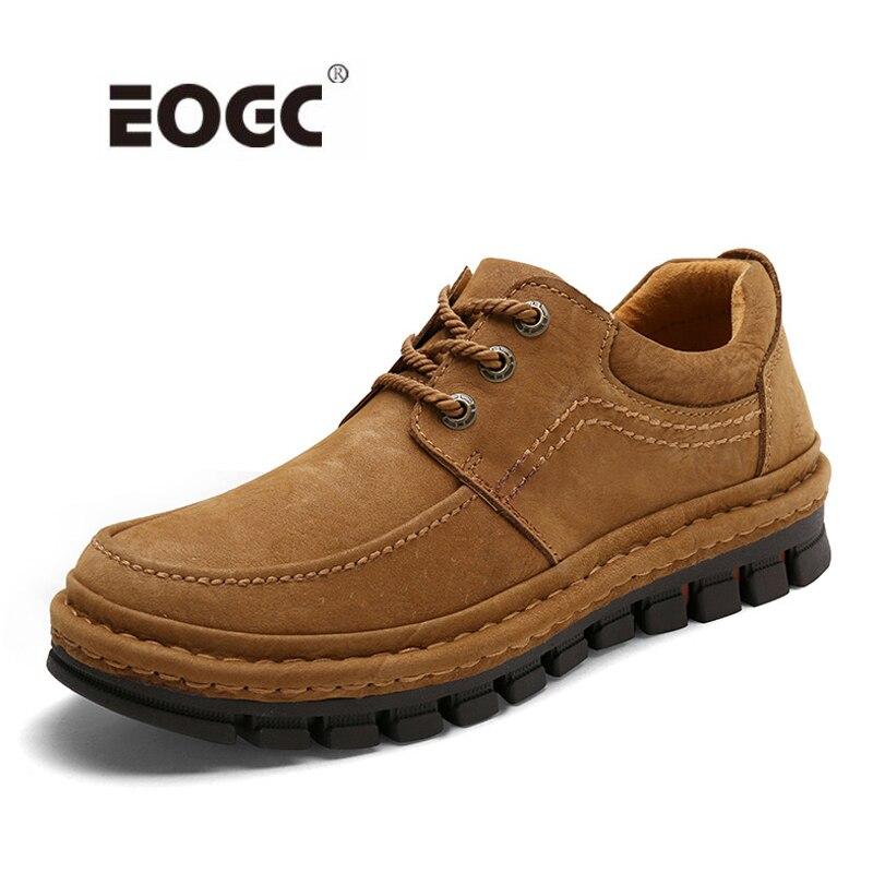 Wysokiej jakości prawdziwa skóra retro mężczyźni buty jesień wodoodporne botki na zewnątrz Handmade pracy męskie buty Dropshipping w Podstawowe buty od Buty na  Grupa 1