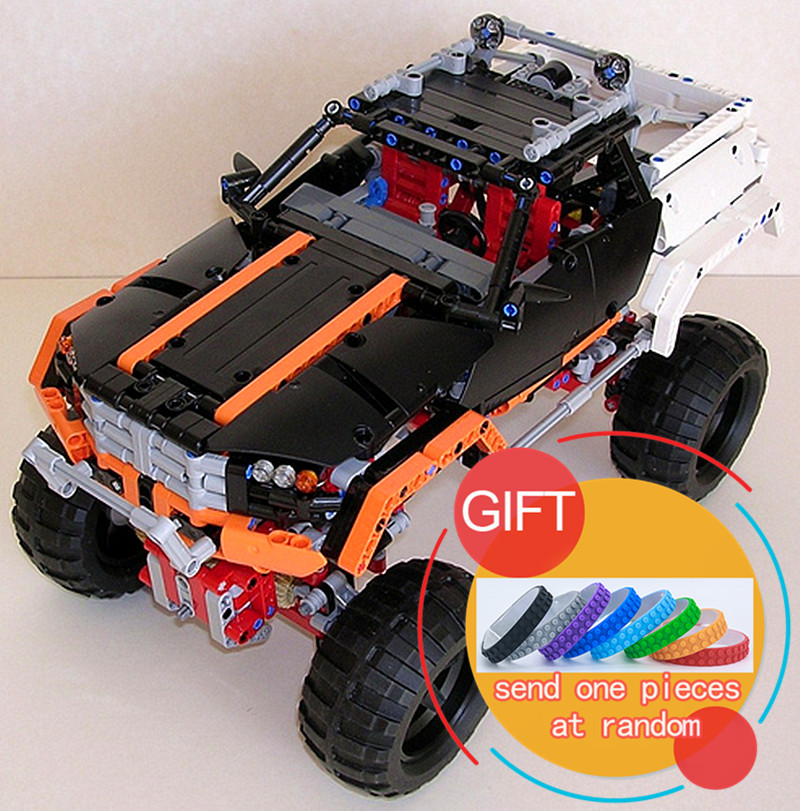 20014 1386Pcs Technical Series The Remote-Control Four-Wheel Drive Off-road Vehicles set Compatible with 9398 Building Blocks advanced intelligent vehicles control