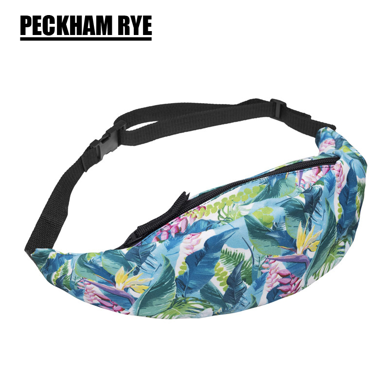 2018 New waist fanny Bag packs 3D colorful red rose Printed cute child girls women Fanny Money Waist Bags Belt Pack plus size printed empire waist peplum top