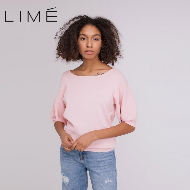 Sweater with sleeves LIME woman 231|9301|141 yellow v neck long sleeves crossed front design sweater