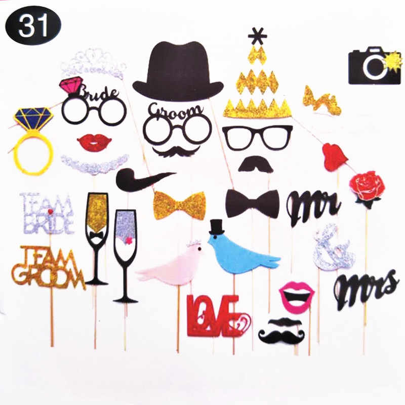 Fun Wedding Decoration Photo Booth Props DIY Mr Mrs Photobooth Props Photo Accessories Wedding Event Birthday Party Supplies