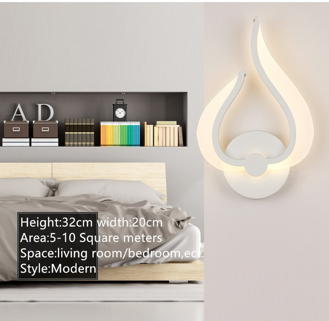 LED Wall Lamps AC85-265V Modern Simple Bedroom Bedside Light Indoor Kitchen Dining Room Corridor Wall Lighting Acrylic Material