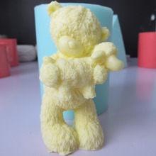 3d bear with sheep silicone mold fondant mould chocolate mousse cake molds candle aroma stone resin clay