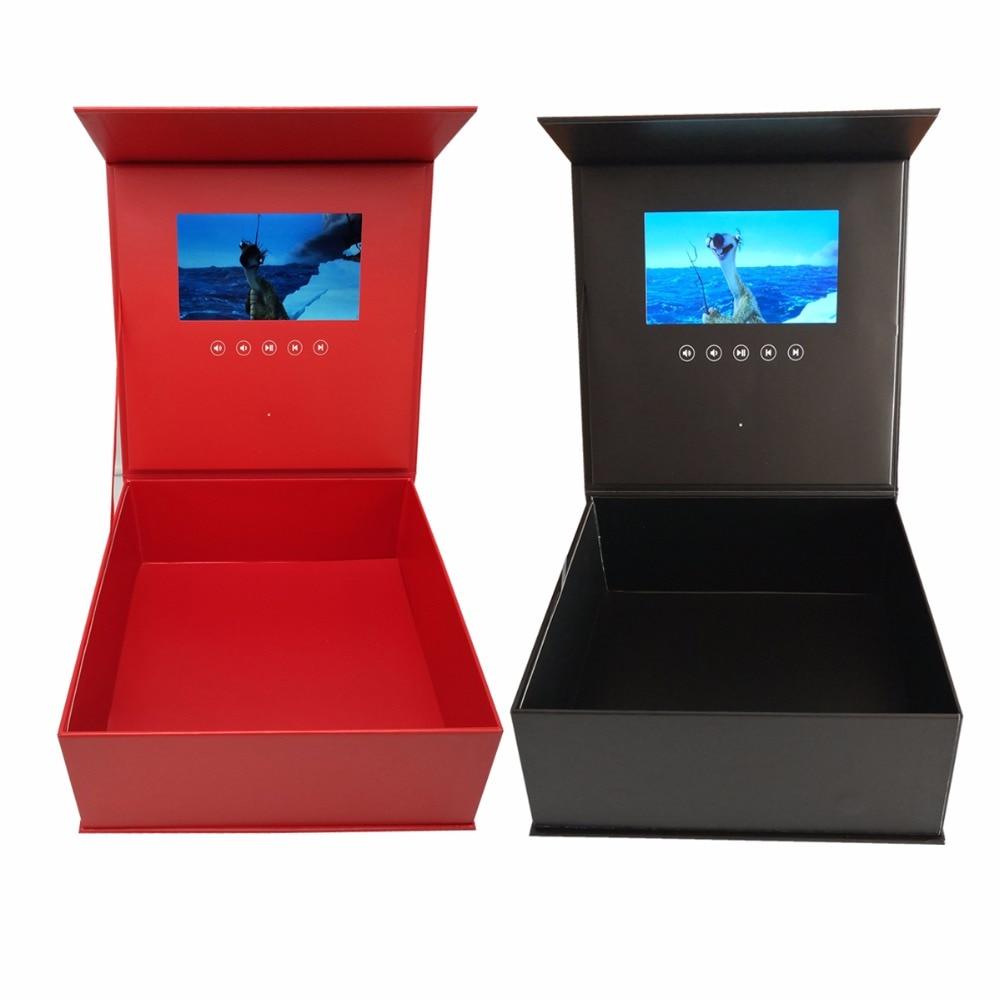 Boîte vidéo à fleurs à couverture rigide 7 pouces 2GB mémoire carte de voeux vidéo universelle HD regarder livret mash up pour boîte cadeau Senior-in Lecteur MP4 from Electronique    1