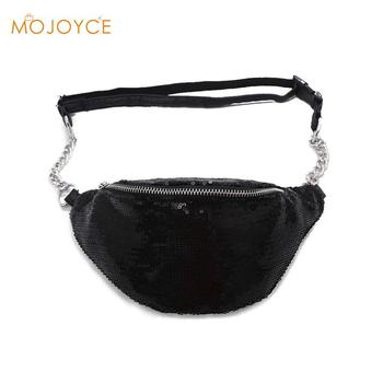 MOJOYCE Women Sequin Fanny Pack Fashion Female Waist Bag 2018 New Chest Pouch Shoulder Bag Glitter Bum Belts Bags Waist Packs