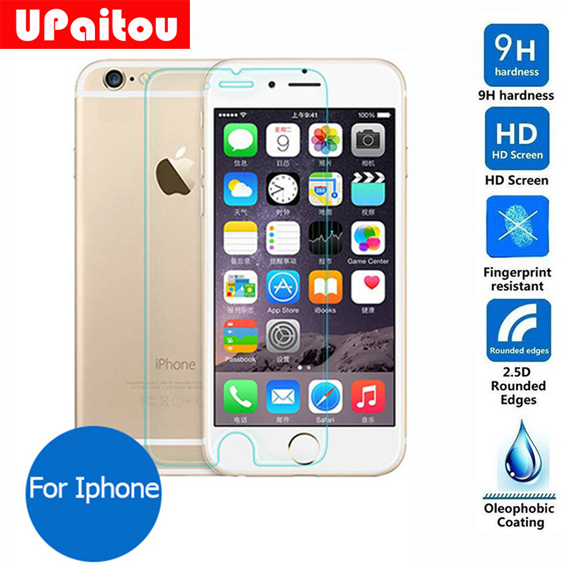 h Safety Tempered glass Screen Protector For Apple iphone s g s