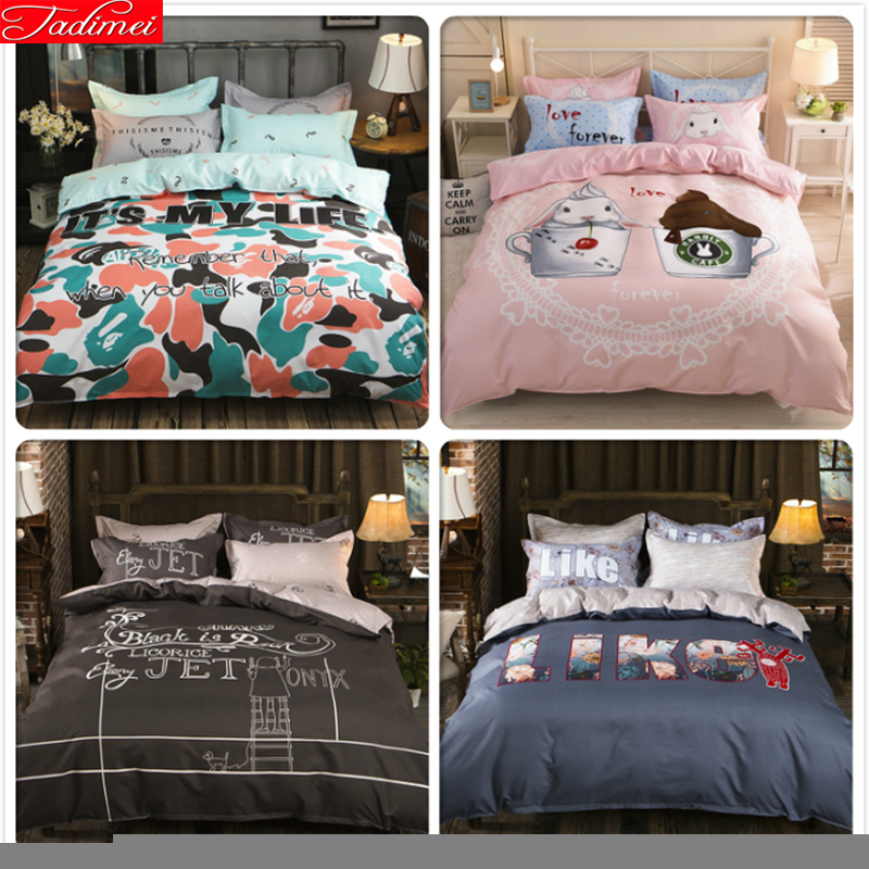 3/4 Pcs Bedding Set King Queen Twin Double Size Duvet Cover 1.5m 1.8m 2m Flat Sheet Bed Linen Pillwcase Sets Bedclothes Bedlinen Aromatic Character And Agreeable Taste Power Source