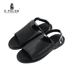 2017 Summer New Men Sandals Genuine Leather Fashion Casual Shoes Slippers Breathable Beach Sandals Shoes for Men Outdoor Shoes