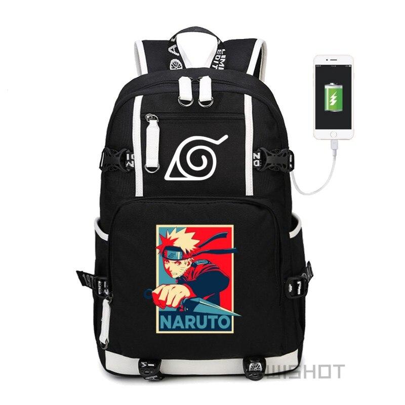 fc0c45b67ff5 Detail Feedback Questions about HOT SALE Naruto backpack Sasuke Sharingan  LOGO Student printing bag high quality Shoulder travel school Bag with USB  port ...