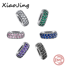 Fit Authentic Pandora Bracelets Jewelry Hot Sale 925 Original Silver Colour Round Charm Beads With CZ Charms Antique Gift