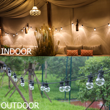 13M G50 Globe LED Festoon String Light Timer Function Outdoor Waterproof Garland Patio Light Christmas Hanging Camping Light D20