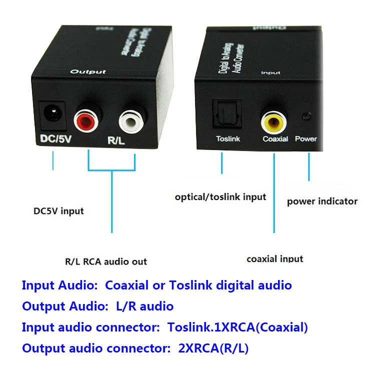 New Tv Optical Digital Spdifcoaxial To Rca Lr Headphone Analog Rhaliexpress: Digital Audio Output At Gmaili.net