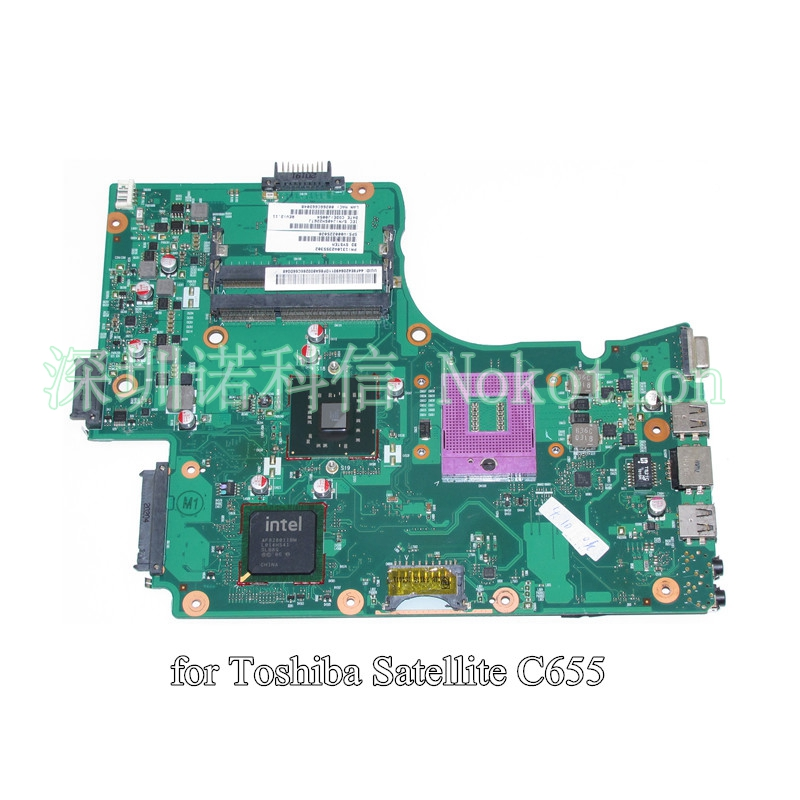 ФОТО PN 1310A2355302 V000225020 For toshiba satellite C655 laptop motherboard GL40 DDR3 6050A2355301-MB-A03