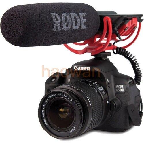 3.5mm Sapato Montado Microfone VideoMic Vídeo Shot gun Mic com Rycote Lyre para canon 60D 5D3 6d câmera nikon d800 d700 d600