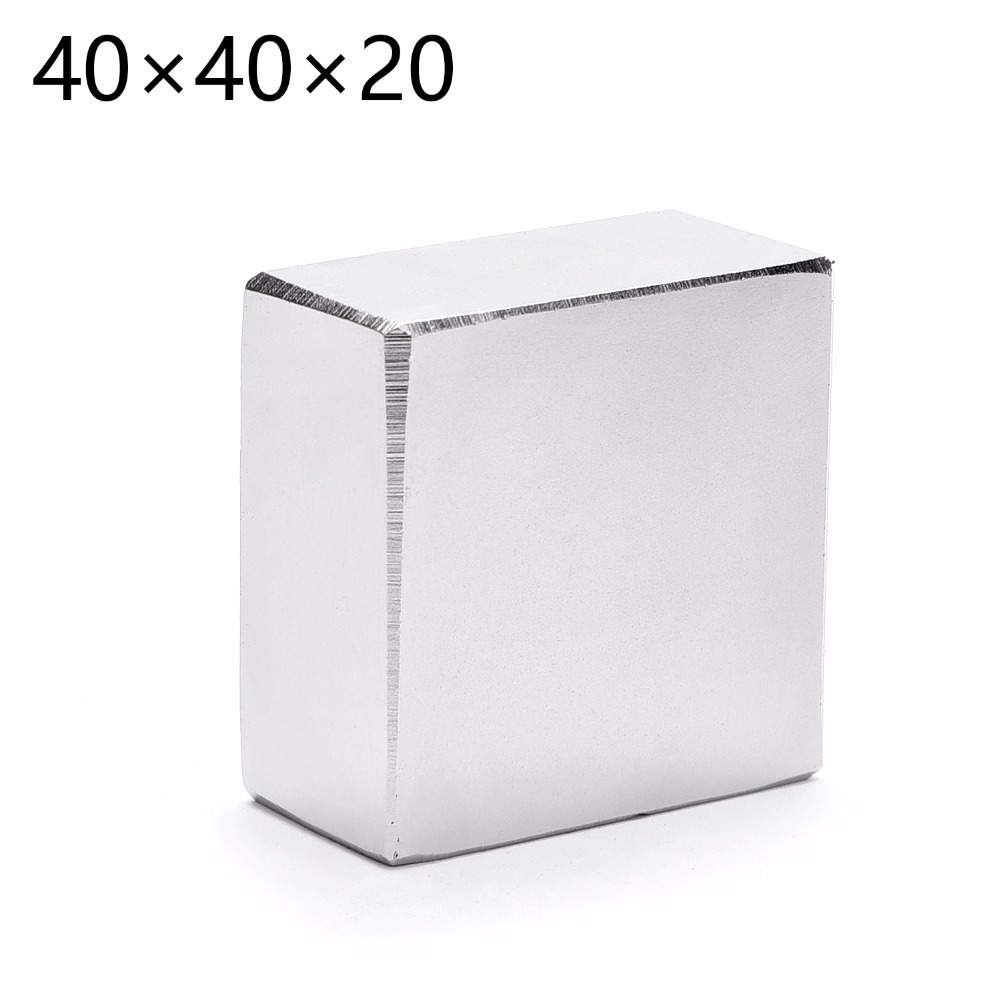 N52 2pcs/lot Block 40x40x20mm Neodymium Magnet Super Strong Rare Earth magnetsN52 2pcs/lot Block 40x40x20mm Neodymium Magnet Super Strong Rare Earth magnets