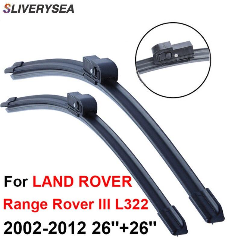 все цены на SLIVERYSEA Wiper Blade For LAND ROVER Range Rover 3 L322 2002-2012 26''+26'' Car Accessories Rubber Windshield Windscreen Wiper