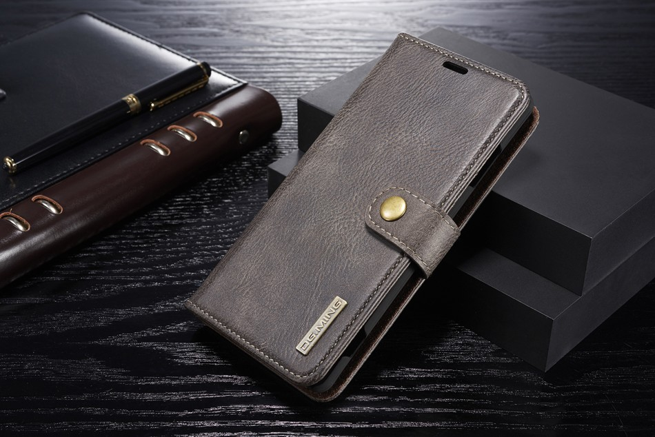 Dual Material PU with <font><b>Genuine</b></font> <font><b>Leather</b></font> Flip <font><b>Case</b></font> for <font><b>Sony</b></font> <font><b>Xperia</b></font> XZ XZS <font><b>XZ1</b></font> XZ2 Compact XZ3 X Compact Removable Back Cover image