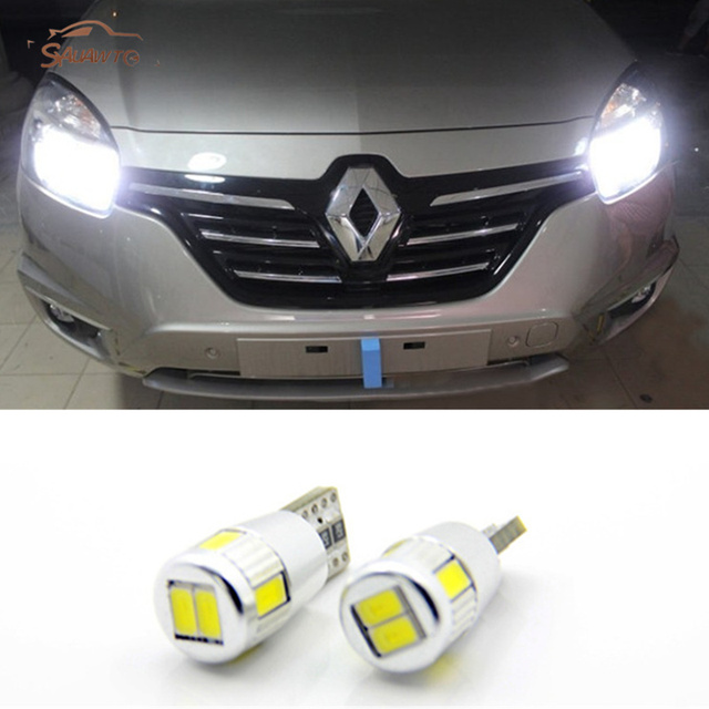 2x led w5w t10 auto licht klaring verlichting voor renault trafic safrane megane 2 duster logan