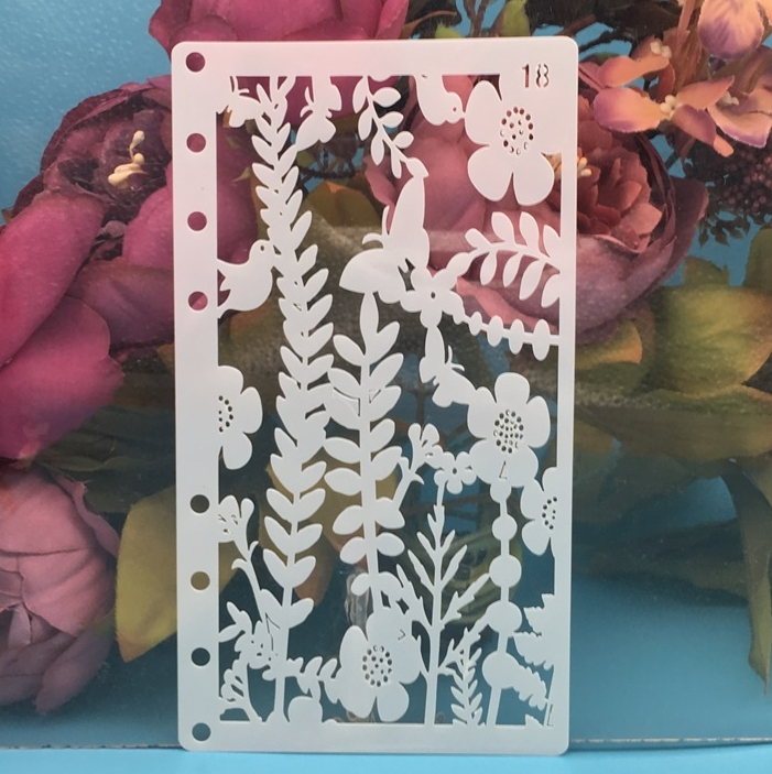A6 Plum Flower Butterfly DIY Craft Layering Stencils Painting Scrapbooking Stamping Embossing Album Paper Card Template
