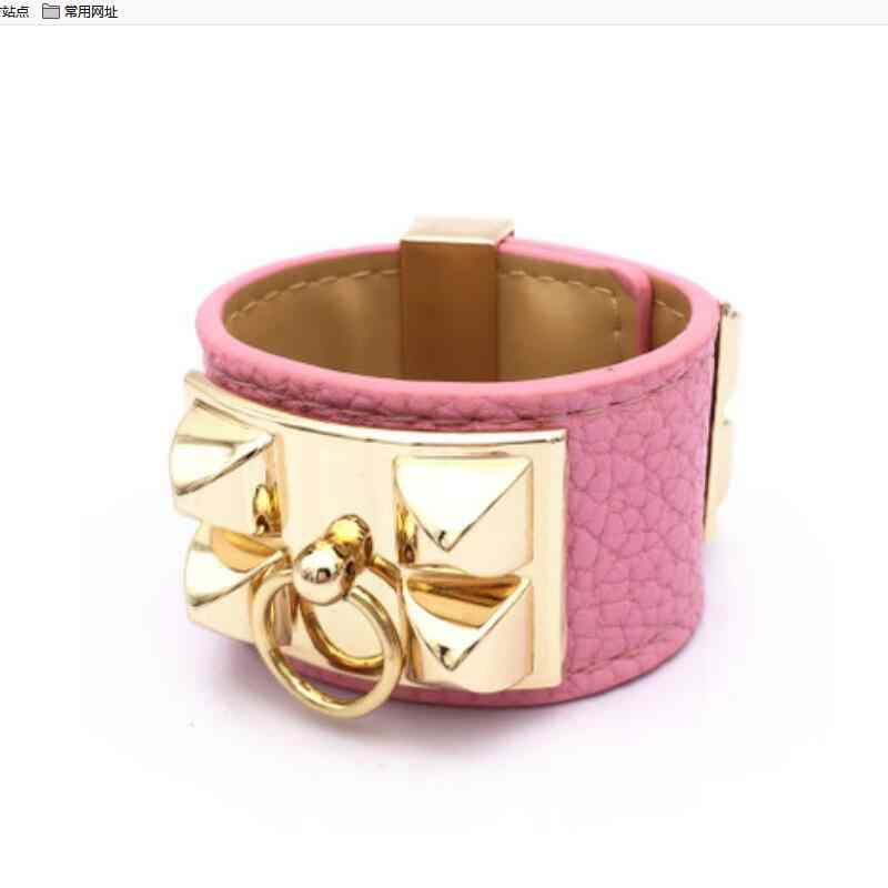 Zhao Select color Elegant Chien PU litchi pattern bracelet