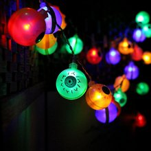 10LED/20LED Lampion Ghost Eyes Lichtslingers Voor Halloween Party Decor Halloween String Light Dance Party Hallowen Decoratie(China)