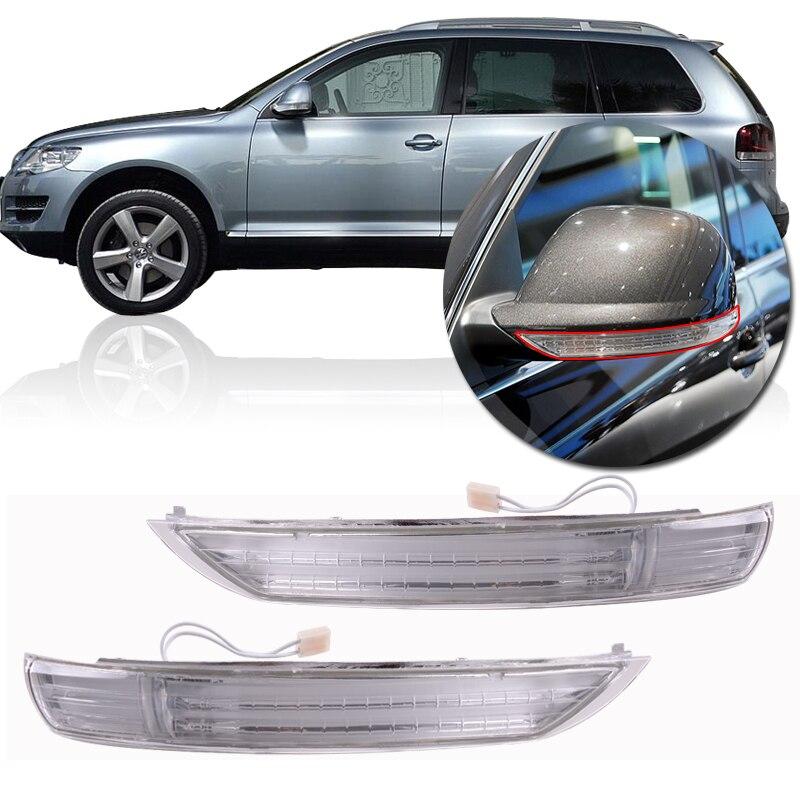 Pair Door Mirror Turn Signal Lamps Lights For 2008-2010 VW Touareg