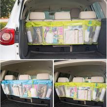 Прочный автомобильный Органайзер на заднюю часть багажника, эластичный держатель для струн, сетчатый карман, сумка для хранения, автомобильные аксессуары